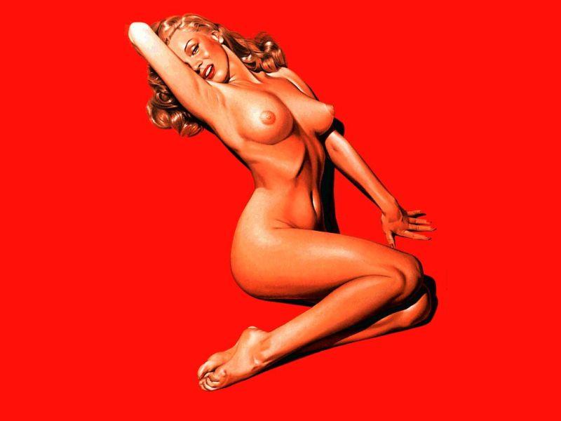 Рисованная порно модель